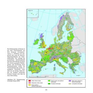 Übersichtskarte: Bodennutzung in Europa